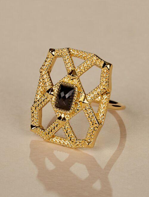 Saba Ring - Textured Onyx