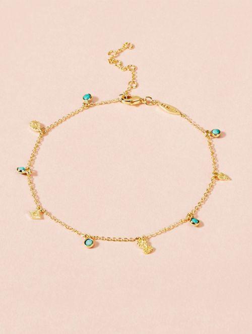 Bracelet de Cheville Nati - Turquoise