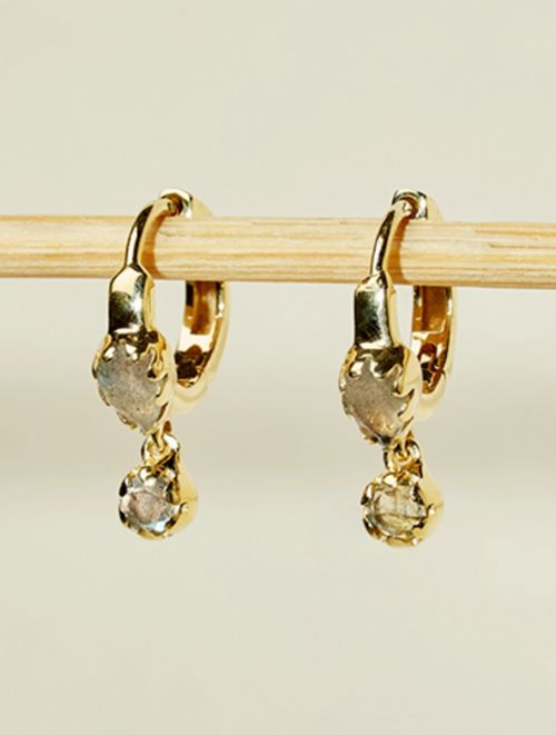 Safra Earrings - Labradorite