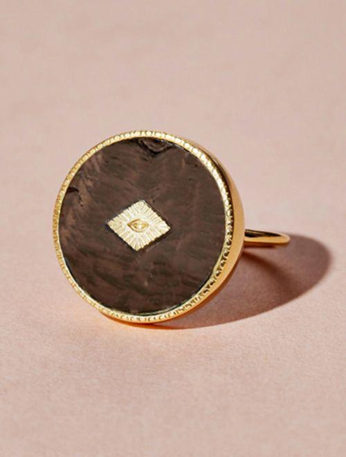 Sanja Ring - Textured Onyx