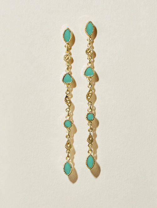 Macha Earrings - Turquoise