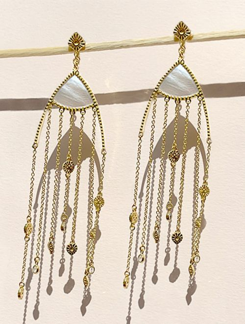 Mina Earrings - Mother of Pearl