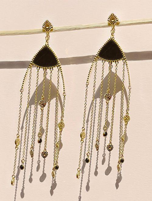 Mina Earrings - Textured Onyx