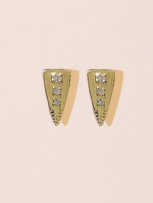 Silan Earrings - White zircons