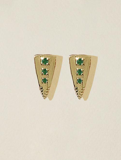 Silan earrings - Green Zircons