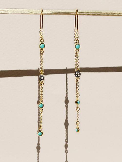 Sitara Earrings - Turquoise