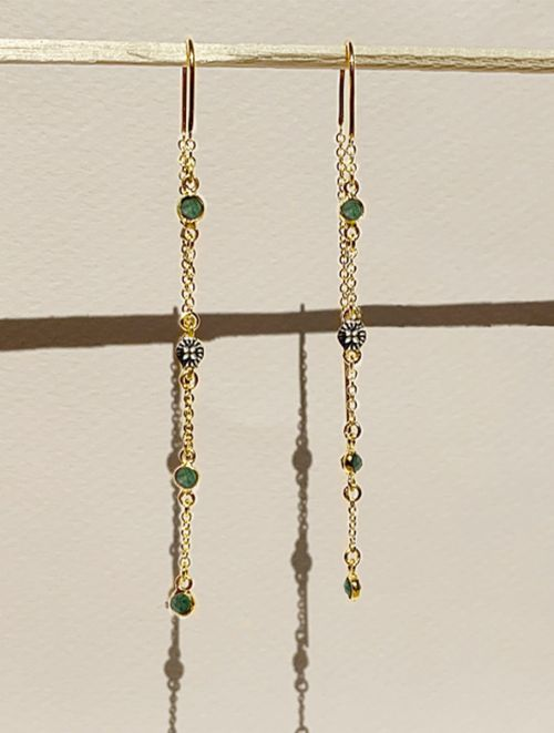 Sitara Earrings - Aventurine