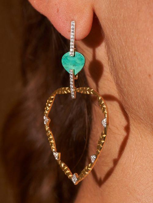 Boucles d'oreilles Lima - Turquoise