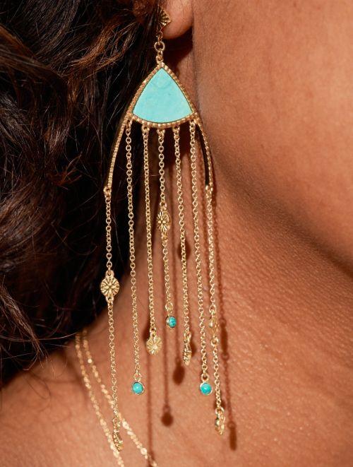 Boucles d'oreilles Mina - Turquoise