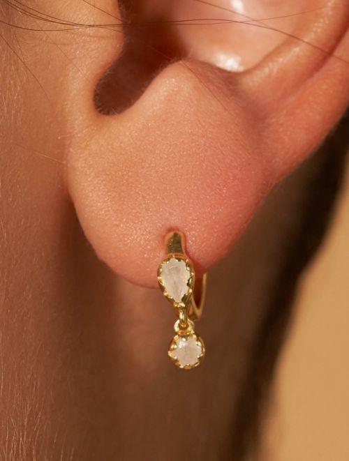 Boucles d'oreilles Safra - Pierre de Lune