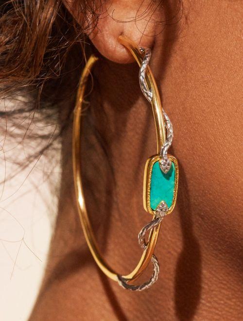 Créoles Sangha - Turquoise
