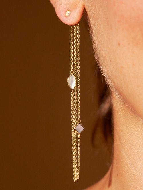 Boucles d'oreilles Shayan - Nacre