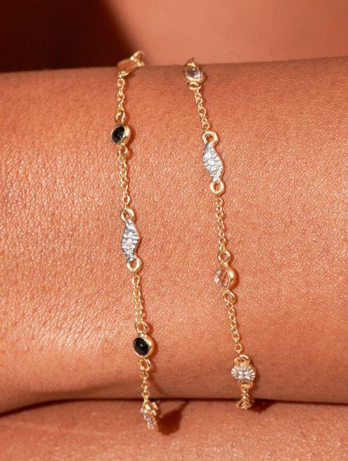 Bracelet Sitara - Zircons Noirs