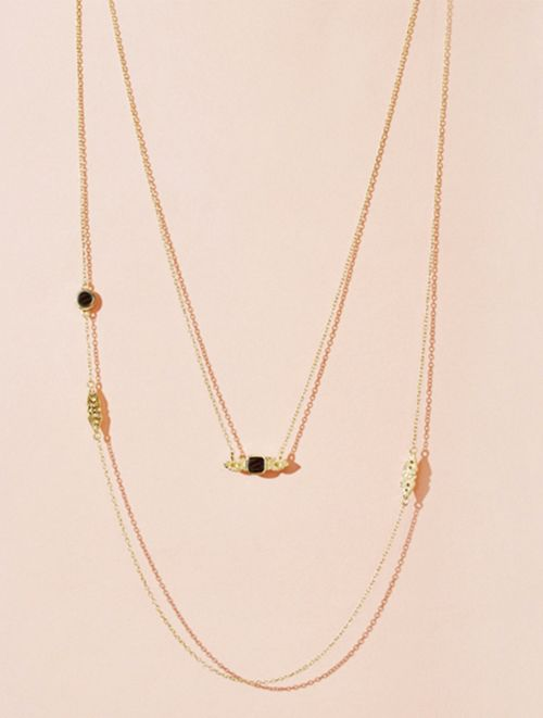Nati Necklace - Textured Onyx