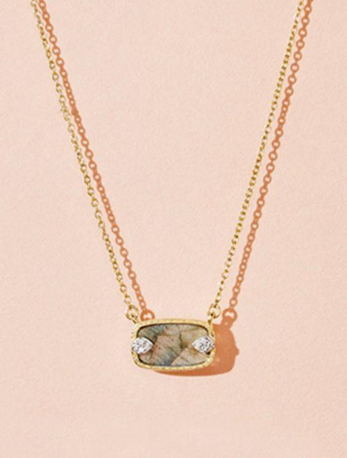 Sangha Necklace - Labradorite