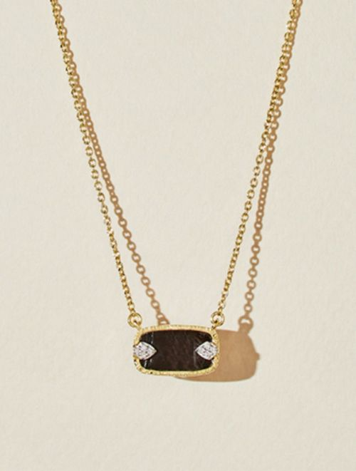 Sangha Necklace - Textured Onyx