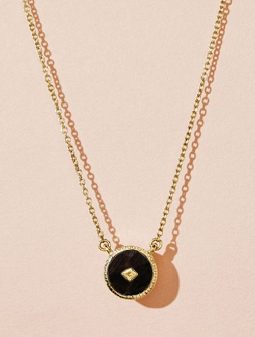 Sanja Necklace - Textured Onyx