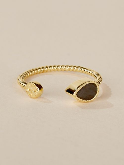 Bali Ring - Textured Onyx
