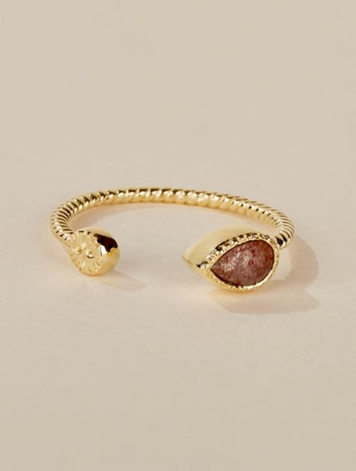 Bali Ring - Strawberry Quartz