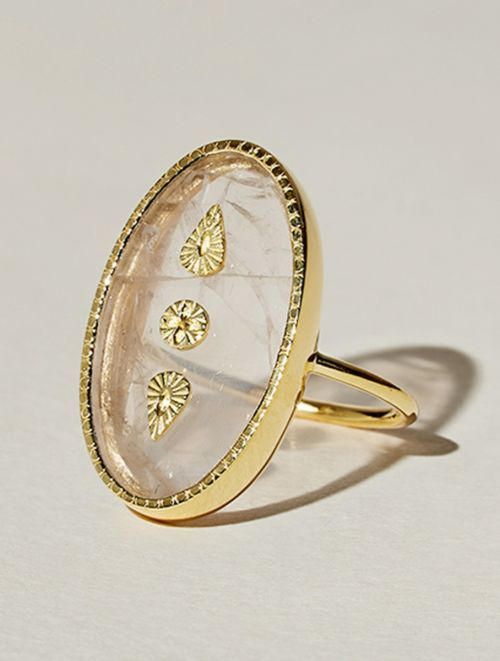 Lana Ring - Rose Quartz