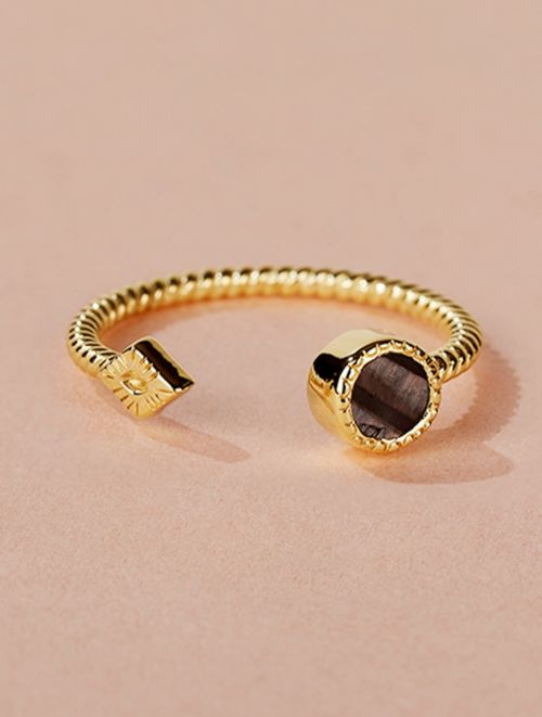Livy Ring - Textured Onyx