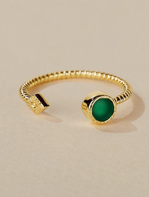 Livy Ring - Green Onyx