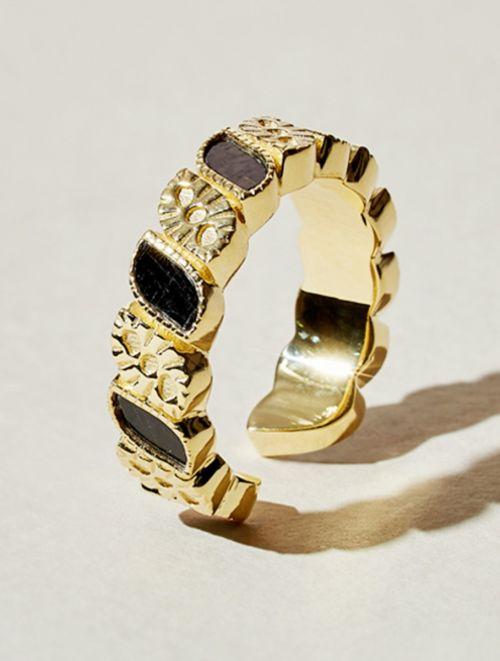 Mali Ring - Textured Onyx