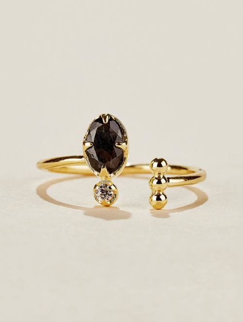 Mani Ring - Textured Onyx