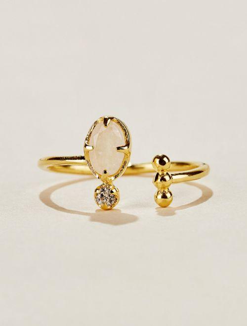 Mani Ring - Moonstone
