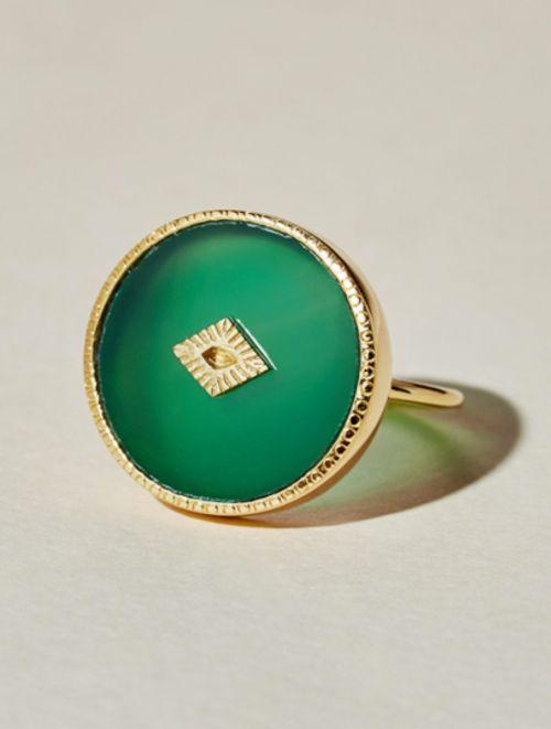 Sanja Ring - Green Onyx