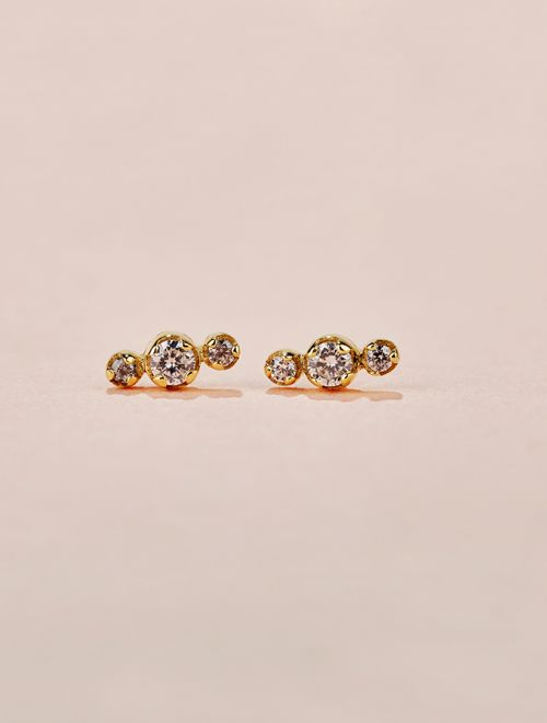 Dori Earrings - White Zircon