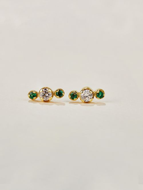 Dori Earrings - Green Zircon