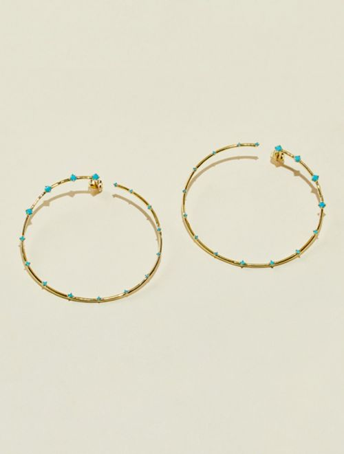 Boucles d'oreilles Jamini - Turquoise
