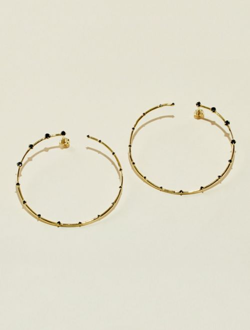 Jamini Earrings - Black Zircon
