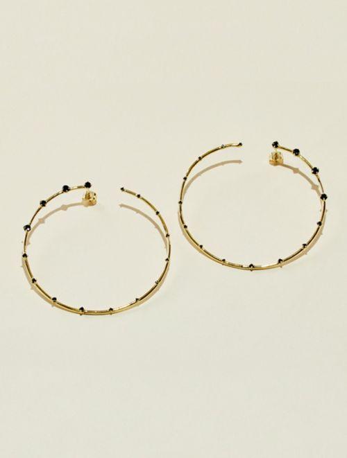 Boucles d'oreilles Jamini - Zircon Noir