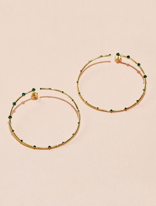 Jamini Earrings - Green Zircons