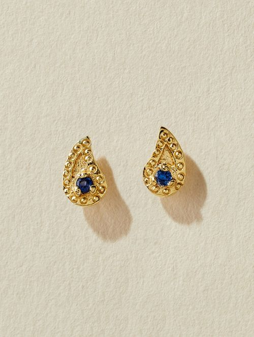 Livna Earrings - Blue Zircon