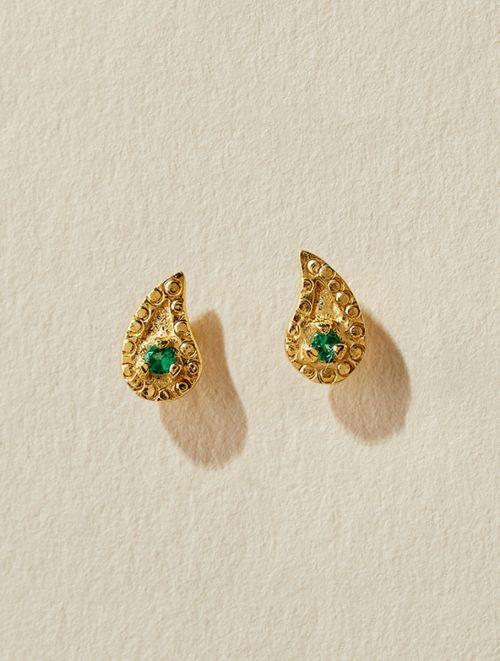 Livna Earrings - Green Zircon