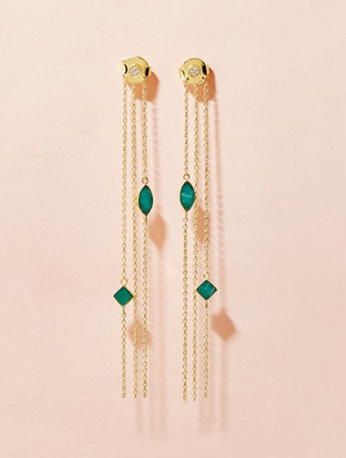 Shayan Earrings - Amazonite