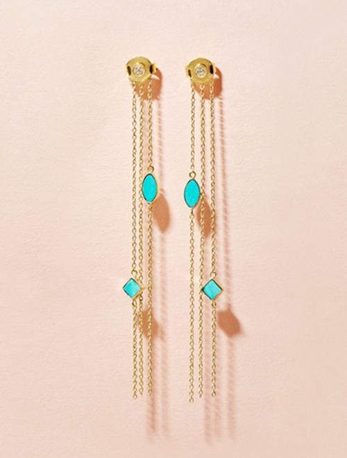 Boucles d'oreilles Shayan - Turquoise