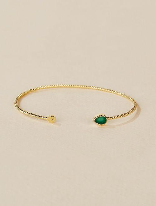 Bali Cuff - Green Onyx