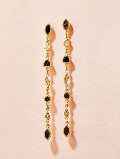Macha Earrings - Textured Onyx