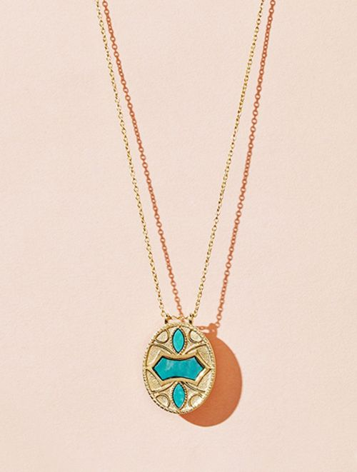 Marala Long Necklace - Turquoise