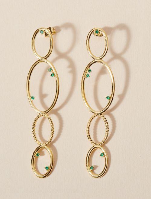 Boucles d'oreilles Koyah - Zircons Verts