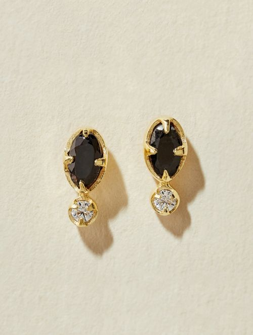 Mani Earrings - Textured Onyx