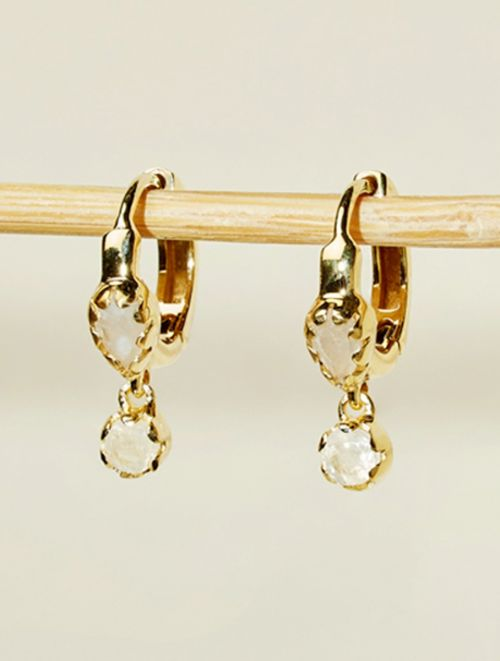 Safra Earrings - Moonstone