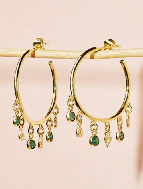 Nati Earrings - Aventurine