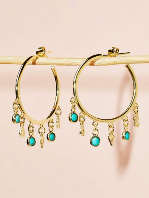 Nati Earrings - Turquoise