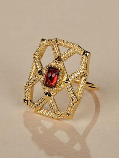 Saba Ring - Garnet