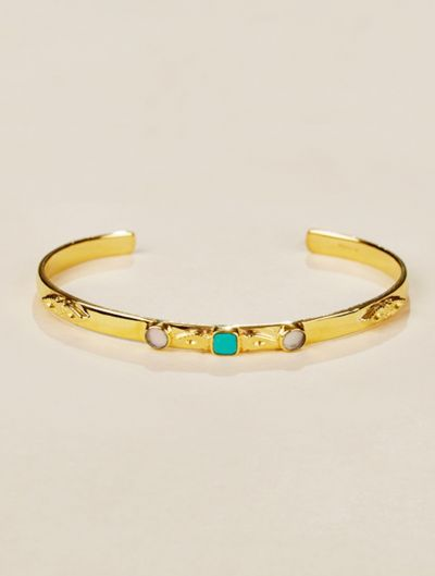 Nati Cuff - Turquoise and Mother of Pearl